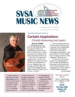 SVSA-Music News, 2018-01 Jan